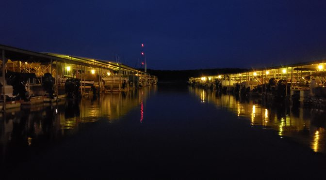 Blackjack Marina at night